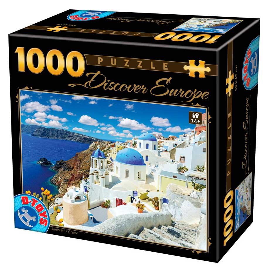 Puzzle D-Toys Santorini, Grecia de 1000 Piezas