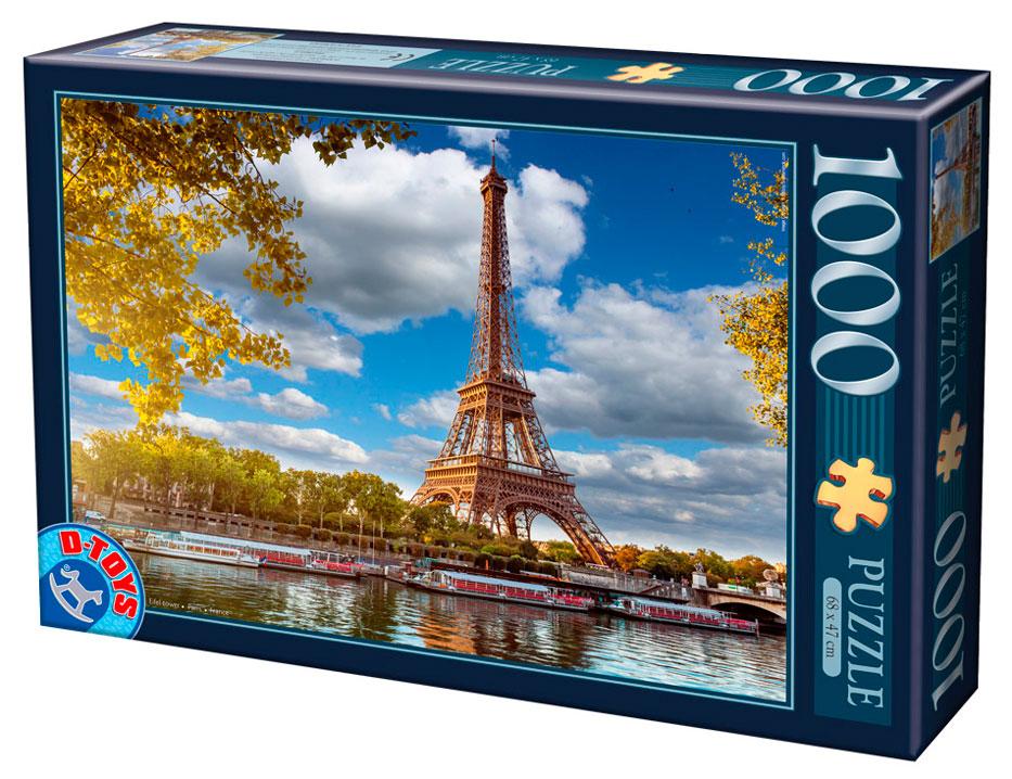 Puzzle D-Toys Torre Eiffel, París de 1000 Piezas