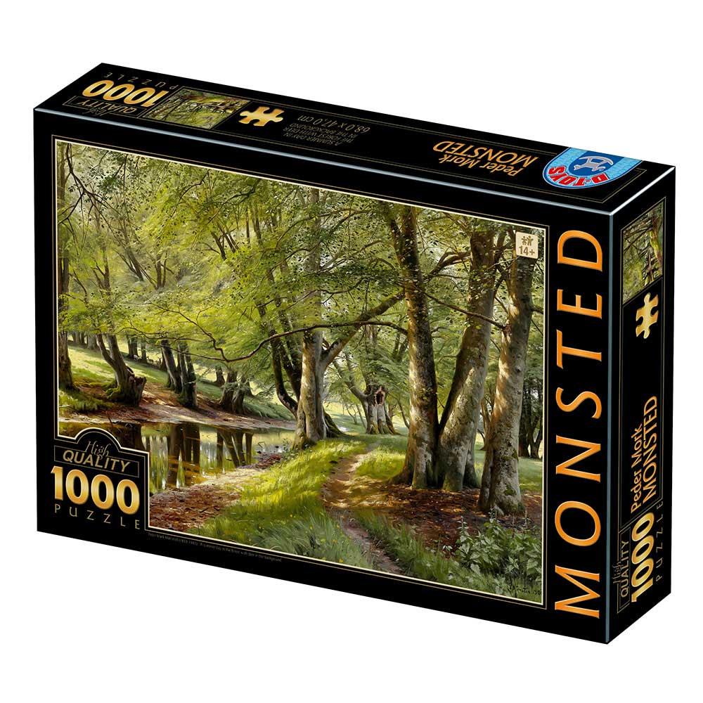 Puzzle D-Toys Un Día de Verano en el Bosque Con Ciervos de 1000