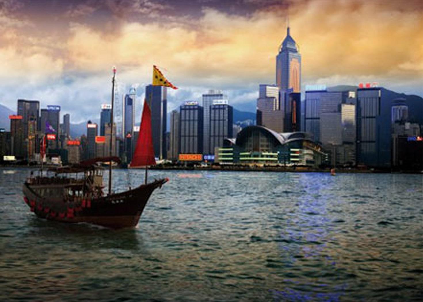 Puzzle D-Toys Vista de Hong Kong de 1000 Piezas