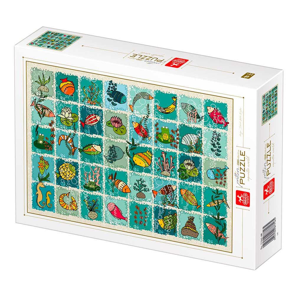 Puzzle Deico Collage Mundo Acuático de 1000 Piezas