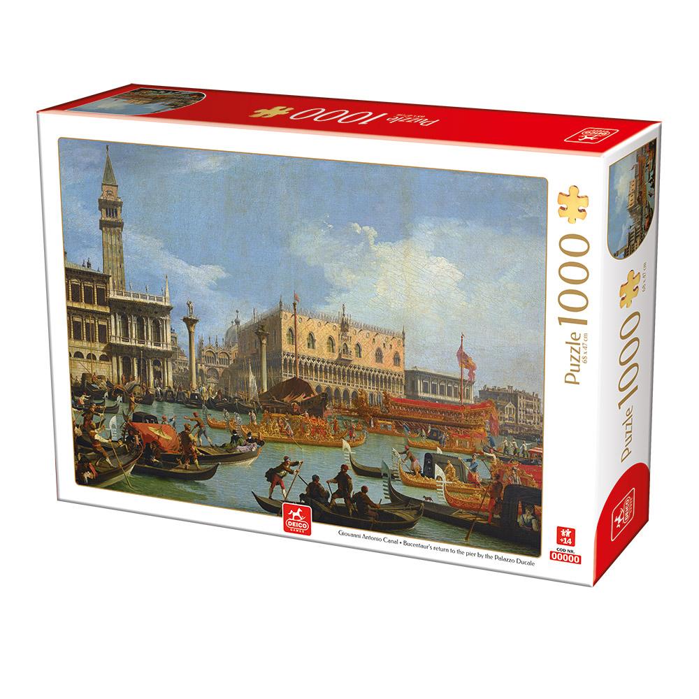 Puzzle Deico El Regreso de Bucentaur al Palazzo Ducale de 1000 P