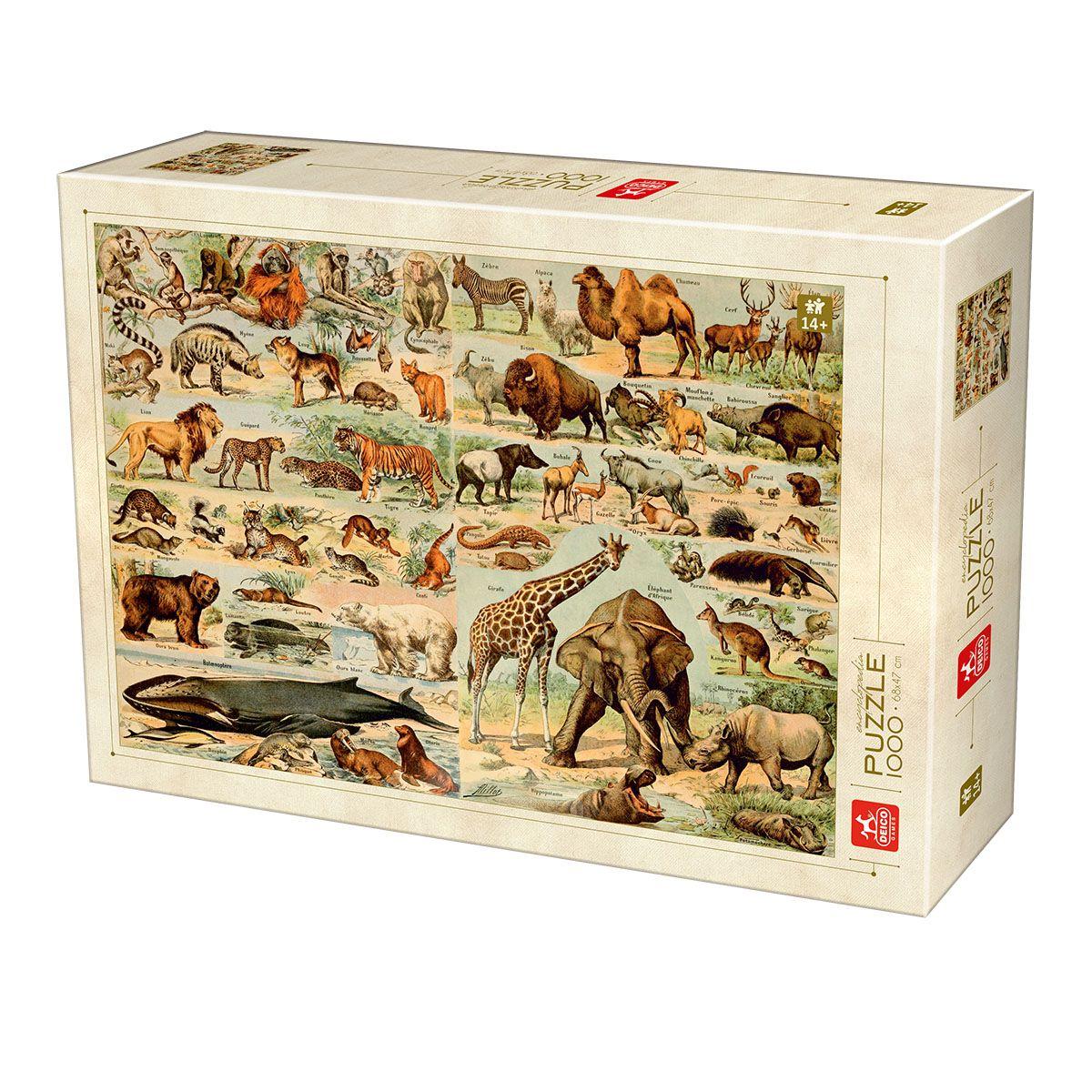 Puzzle Deico Enciclopedia de Animales Salvajes de 1000 Piezas