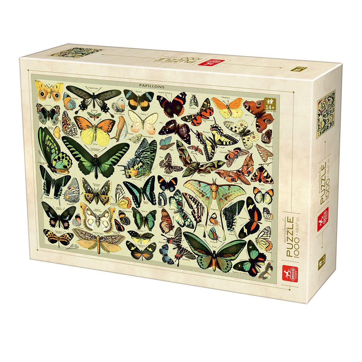 Puzzle Deico Enciclopedia de Mariposas de 1000 Piezas
