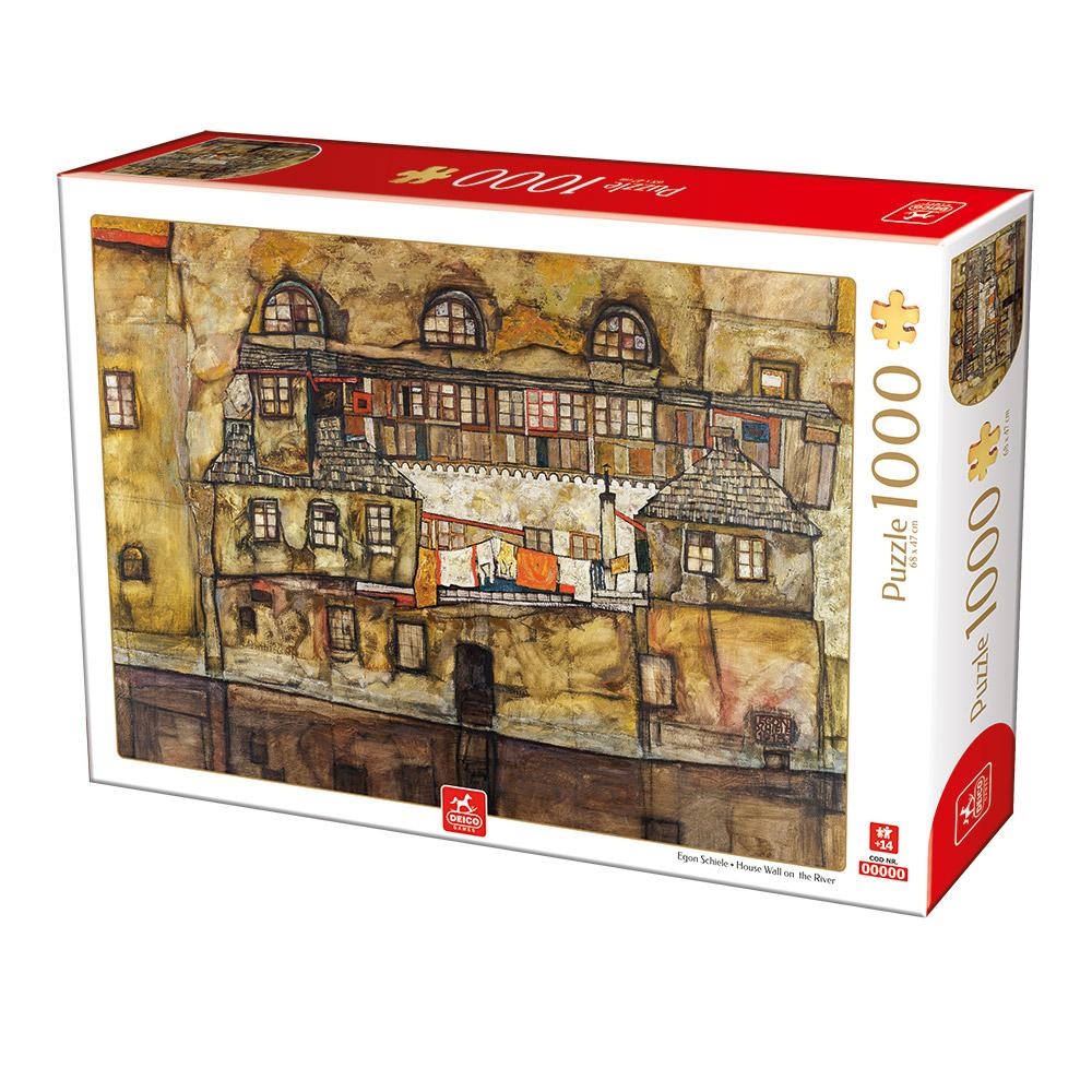 Puzzle Deico Fachada en el Río de 1000 Piezas