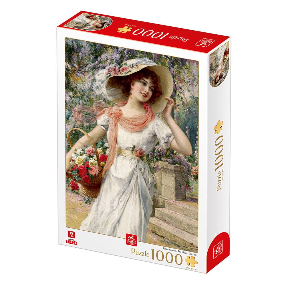 Puzzle Deico Jardín Florido de 1000 Piezas