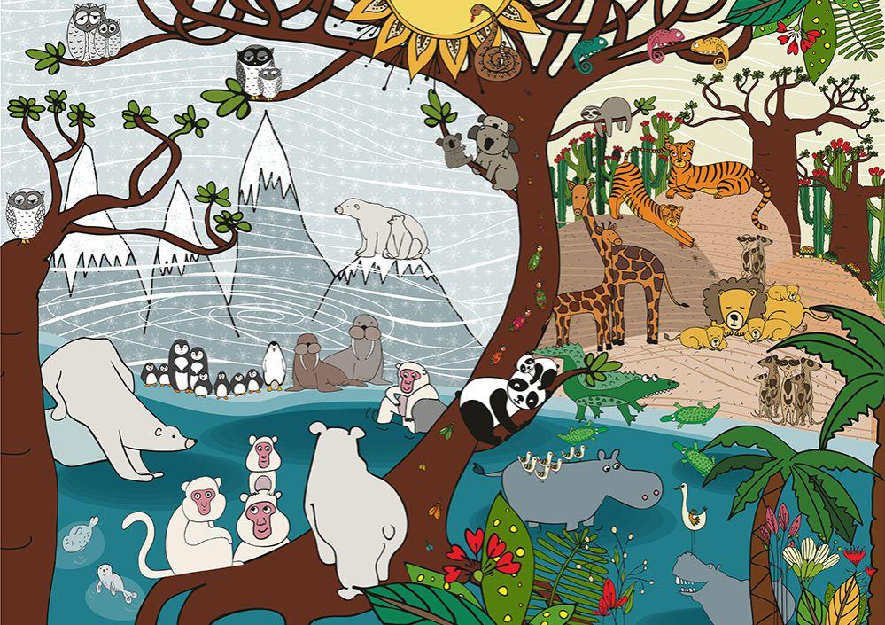 Puzzle Deico Naturaleza Verano e Invierno de 1000 Piezas