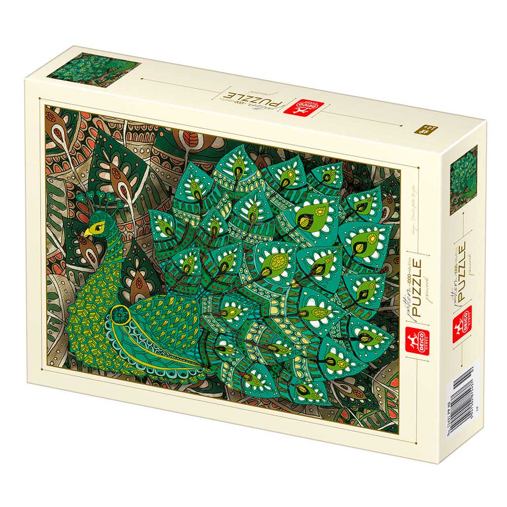 Puzzle Deico Pavo Real de 1000 Piezas
