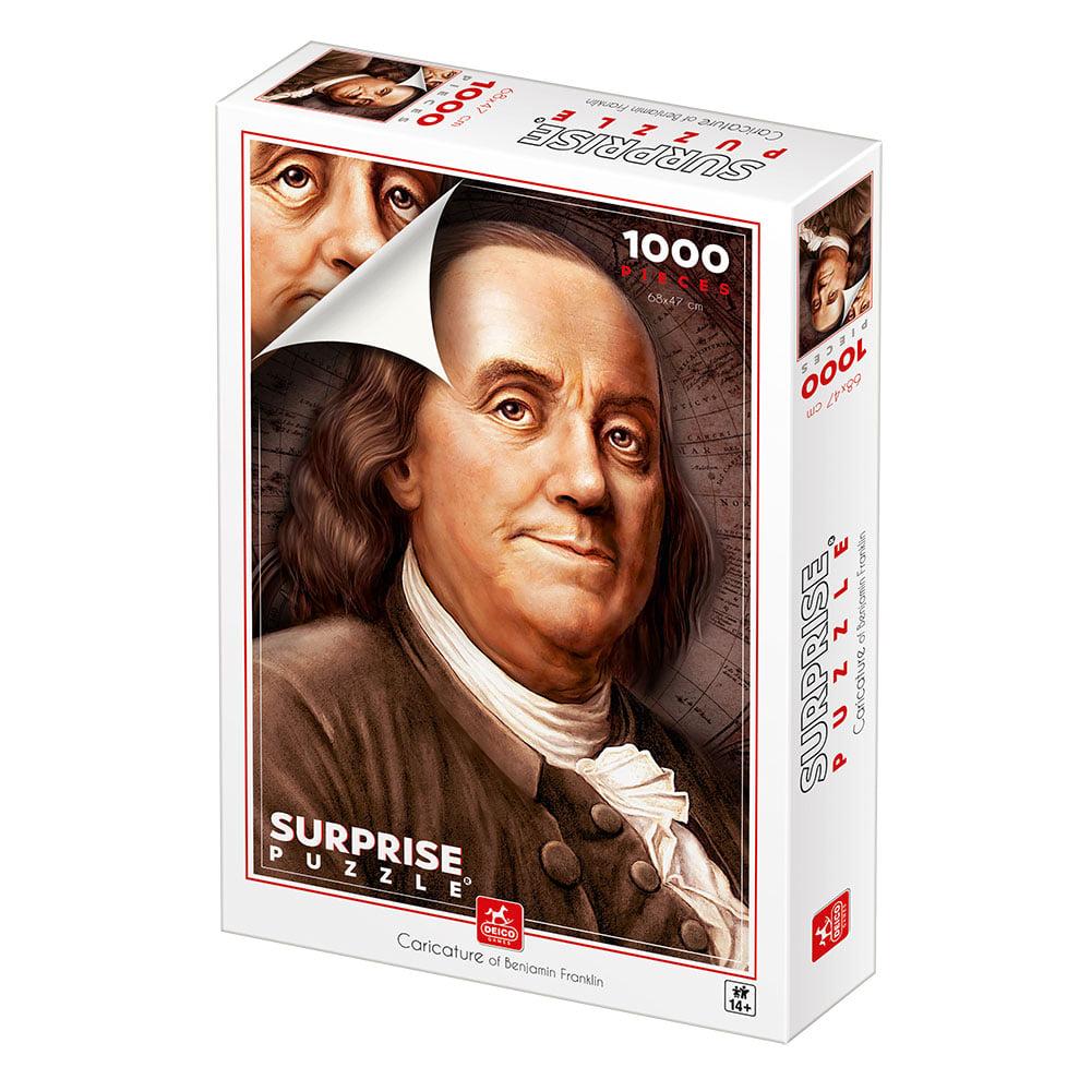 Puzzle Deico Retrato de Benjamin Franklin de 1000 Piezas