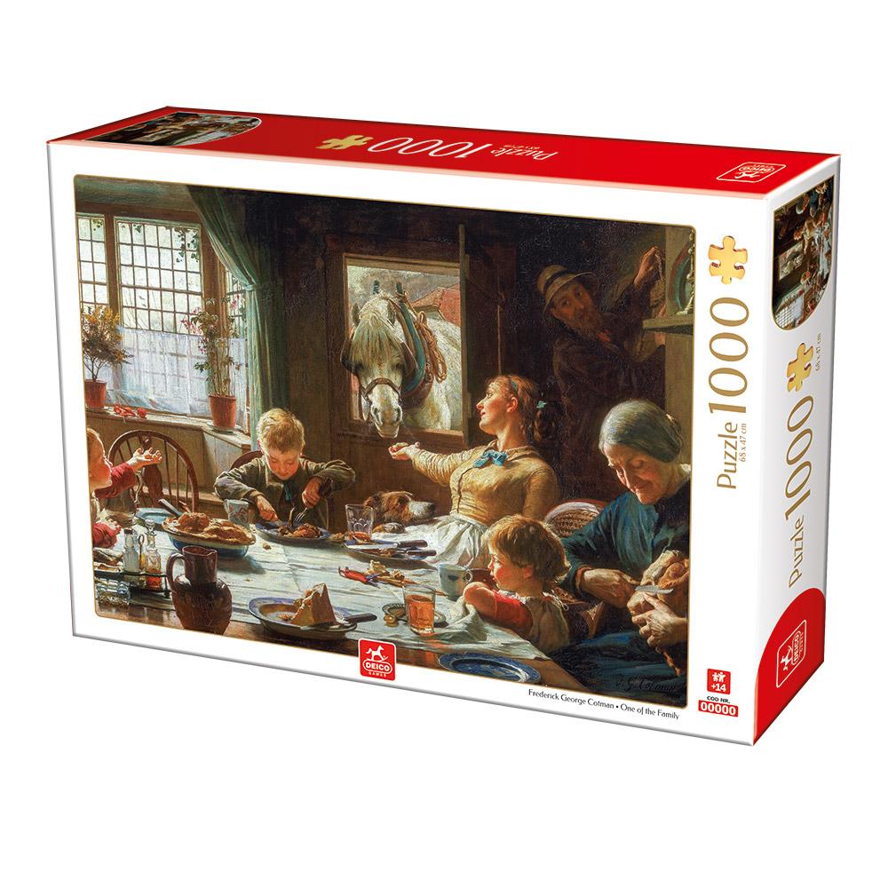 Puzzle Deico Uno Más de la Familia de 1000 Piezas