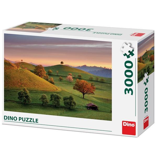 Puzzle Dino Amanecer de Cuento de Hadas de 3000 Piezas