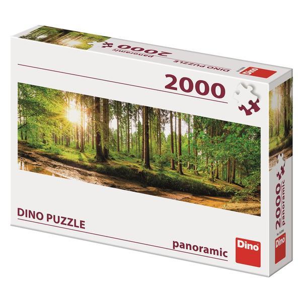 Puzzle Dino Amanecer en el Bosque de 2000 Piezas