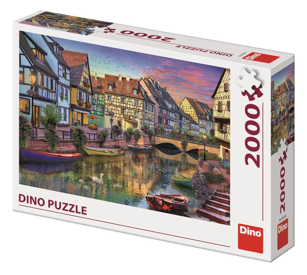 Puzzle Dino Amanecer Romántico de 2000 Piezas