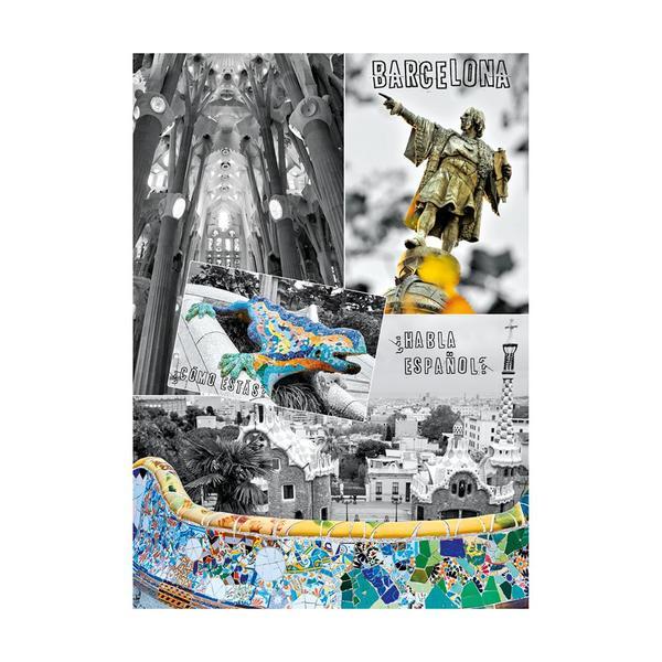 Puzzle Dino Barcelona, España de 1000 Piezas
