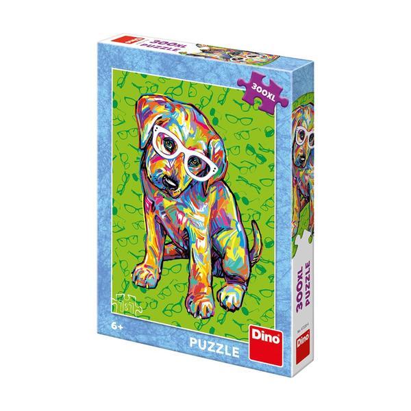 Puzzle Dino Cachorro con Gafas XXL de 300 Piezas