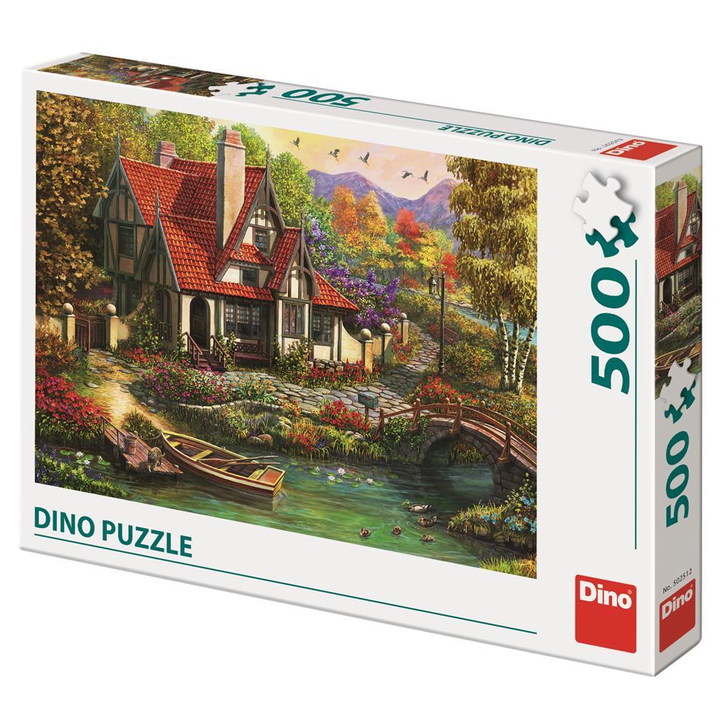 Puzzle Dino Casa de Campo Junto al Lago de 500 Piezas