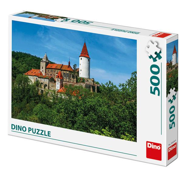 Puzzle Dino Castillo en el Bosque de 500 Piezas