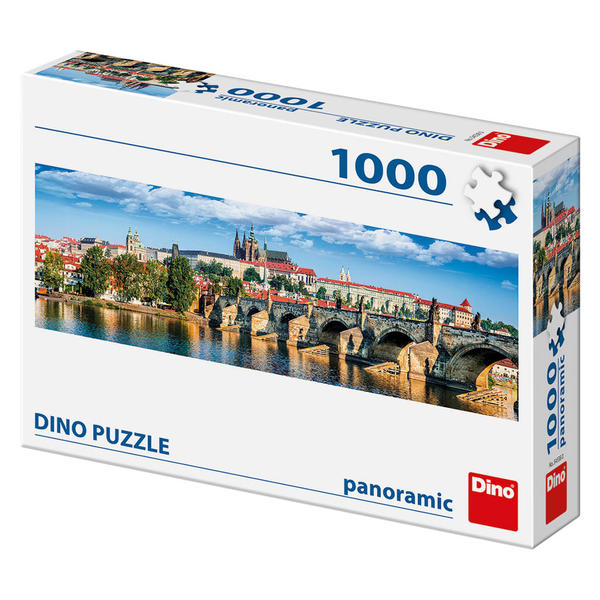 Puzzle Dino Castillo Hradcany de Dñia, Praga de 1000 Piezas