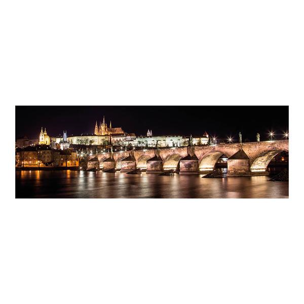 Puzzle Dino Castillo Hradcany de Noche, Praga de 1000 Piezas