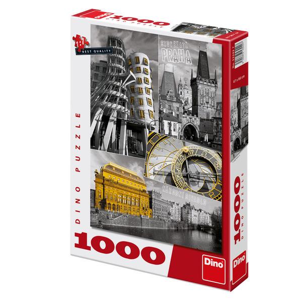 Puzzle Dino Collage de Praga de 1000 Piezas