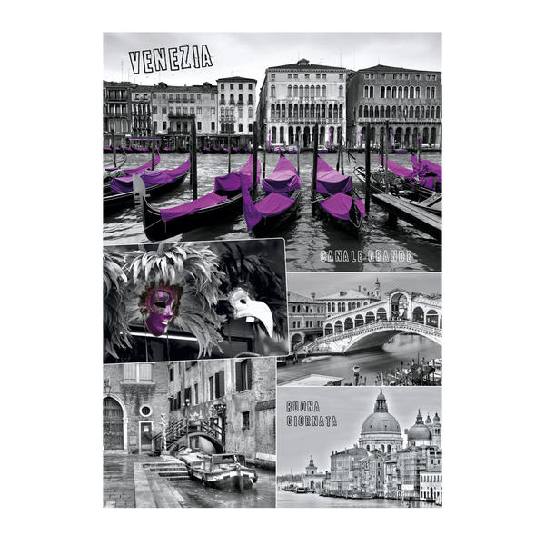 Puzzle Dino Collage de Venecia de 1000 Piezas