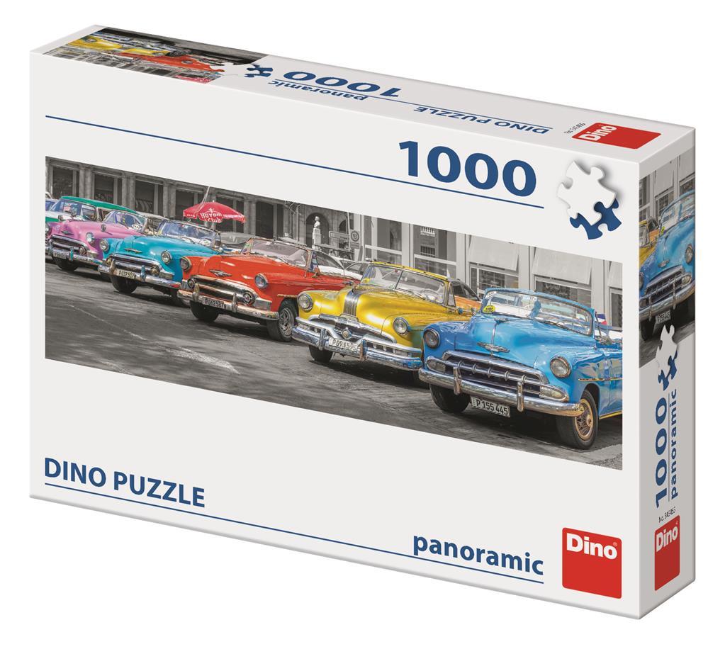 Puzzle Dino Concentración de Coches Panorámico de 1000 Pzs