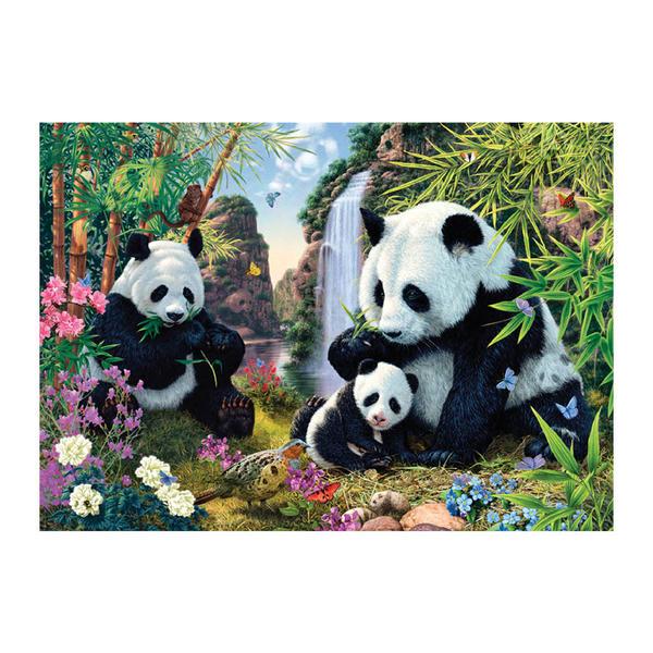 Puzzle Dino Familia de Osos Pandas de 1000 Piezas