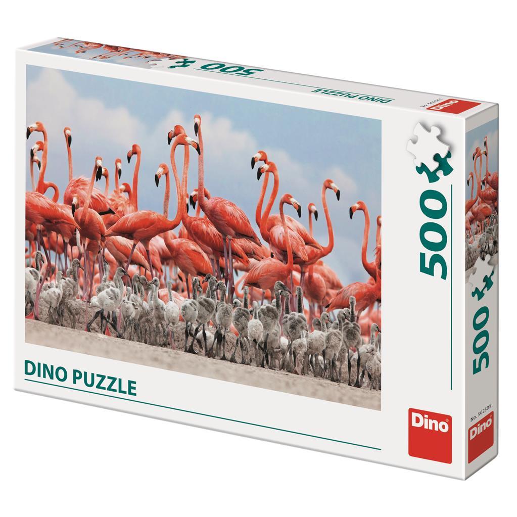 Puzzle Dino Flamencos de 500 Piezas