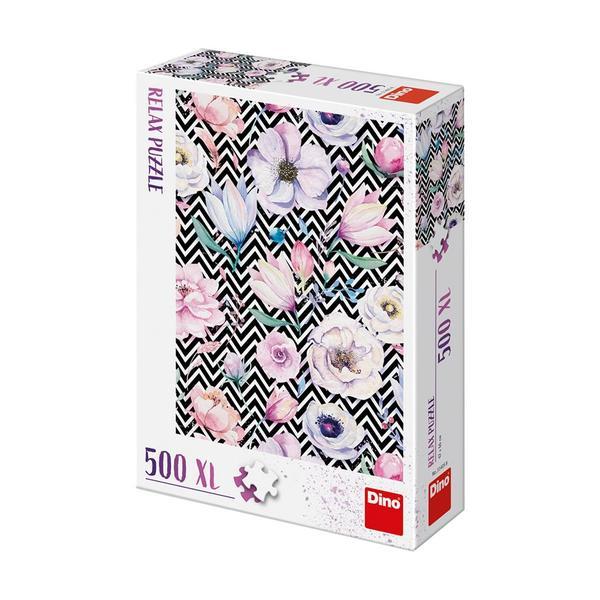 Puzzle Dino Flores XXL de 500 Piezas