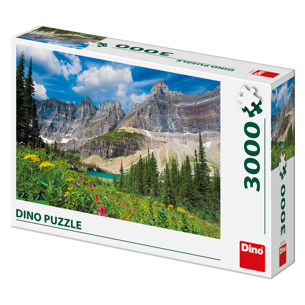 Puzzle Dino Glaciares en el Montaña de 3000 Piezas
