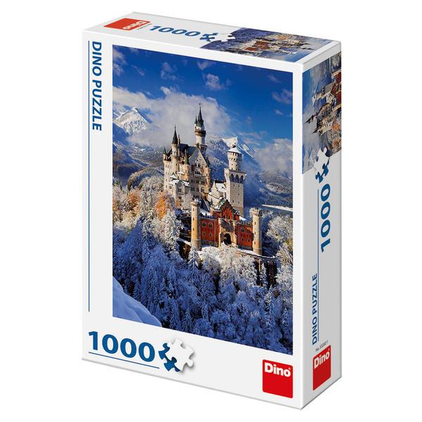 Puzzle Dino Invierno en el Castillo Neuschwanstein 1000 Piezas