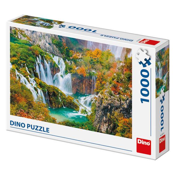 Puzzle Dino Lago de Fantasía de 1000 Piezas