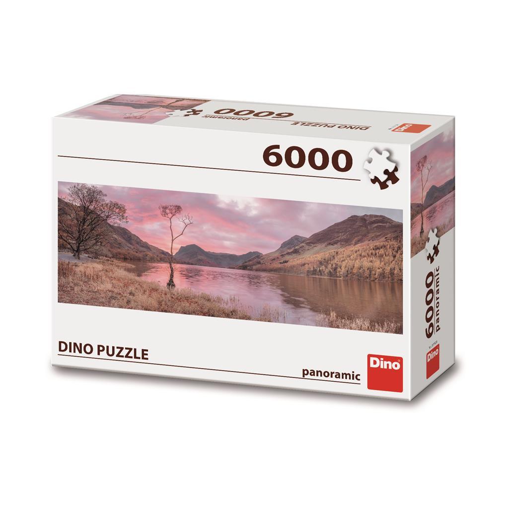 Puzzle Dino Lago en las Montañas de 6000 Piezas