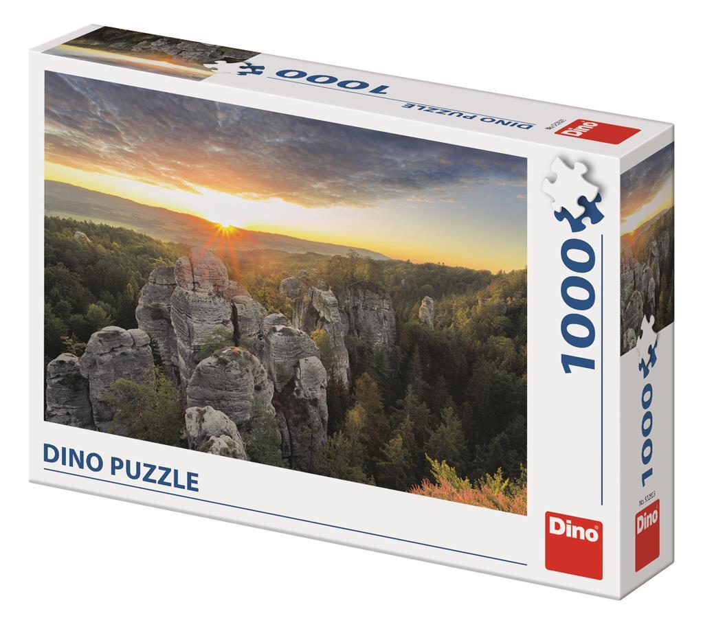 Puzzle Dino Las Montañas Rocosas de 1000 Piezas