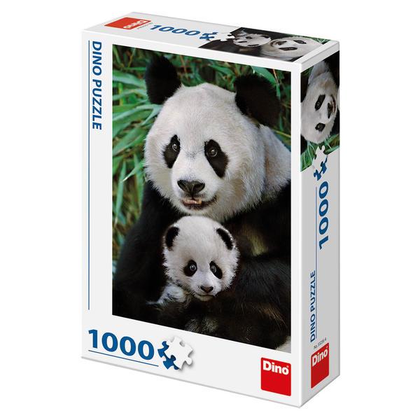 Puzzle Dino Madre y Cría de Oso Panda de 1000 Piezas