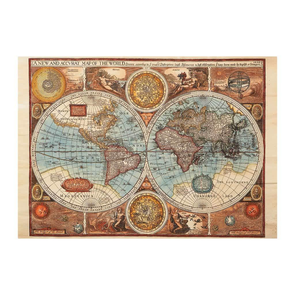 Puzzle Dino Mapa del Mundo Antiguo de 500 Piezas