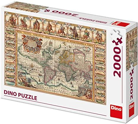 Puzzle Dino Mapa Mundi Antiguo de 2000 Piezas