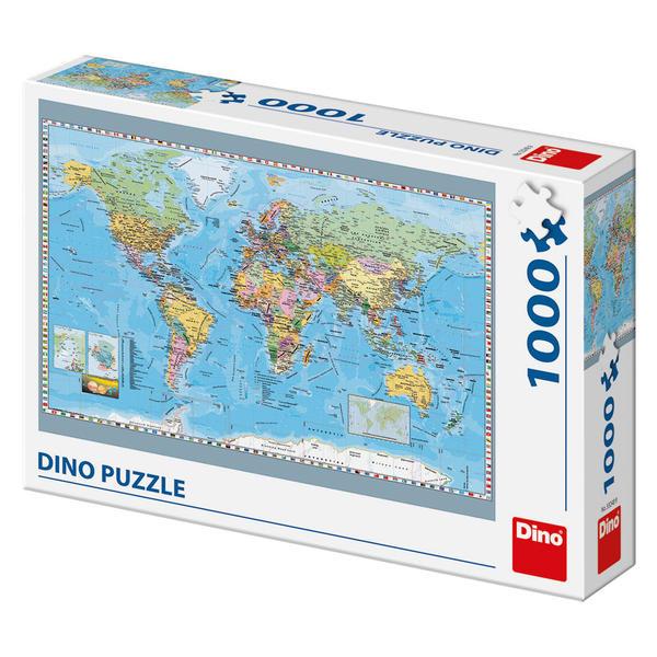 Puzzle Dino Mapa Político del Mundo de 1000 Piezas