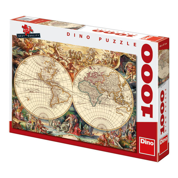 Puzzle Dino Mapamundi Antiguo de 1000 Piezas