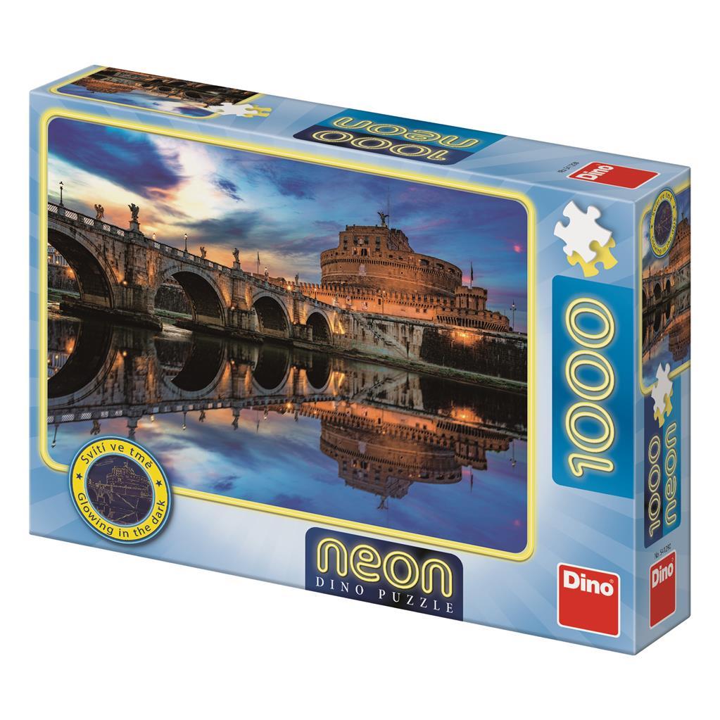 Puzzle Dino Neón Castel Sant'Angelo de 1000 Piezas