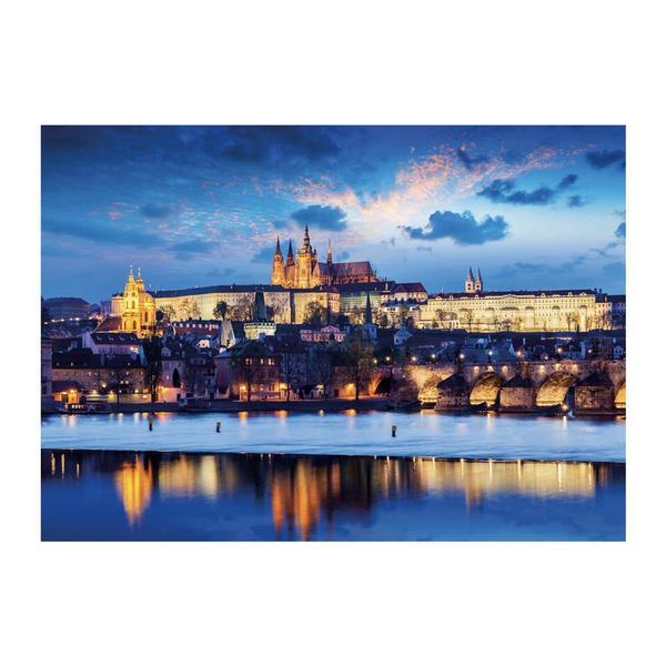 Puzzle Dino Neón Castillo de Praga de 1000 Piezas