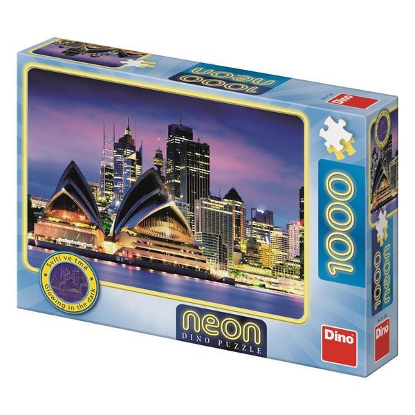 Puzzle Dino Neón Opera House de Sidney de 1000 Piezas