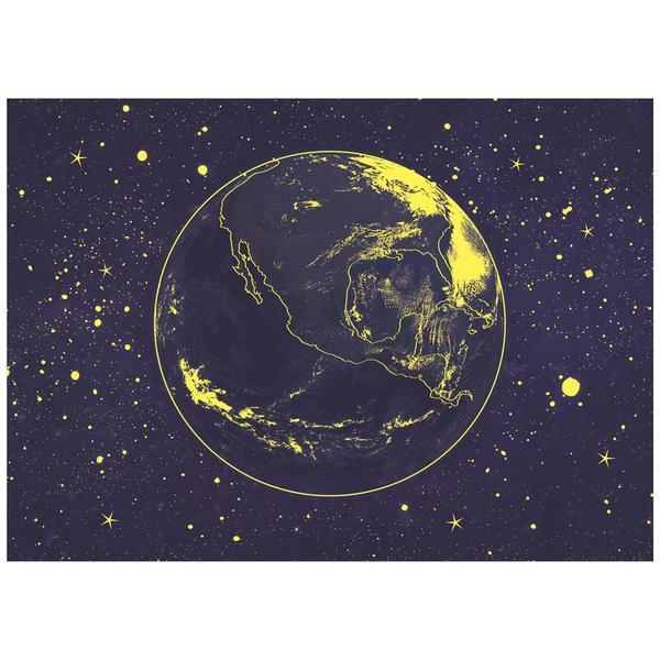 Puzzle Dino Neón Planeta Tierra de 1000 Piezas