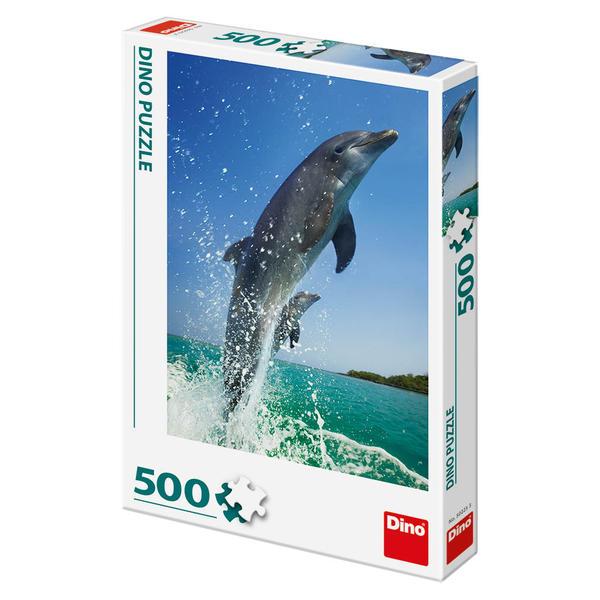 Puzzle Dino Pareja de Delfines de 500 Piezas