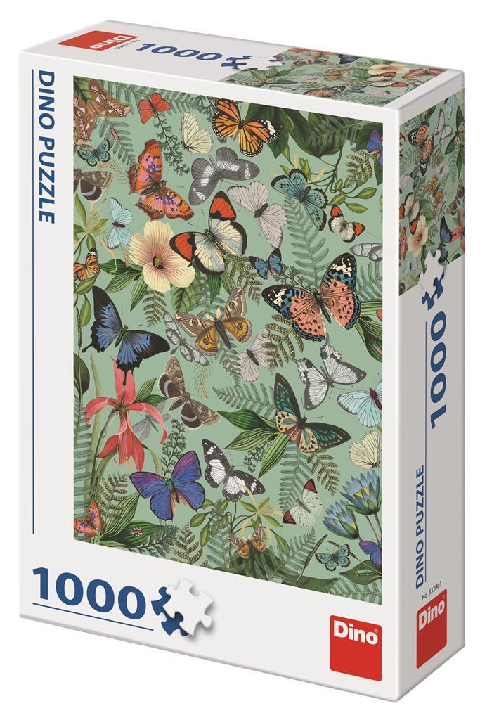 Puzzle Dino Prado de Mariposas de 1000 Piezas