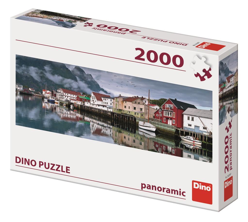 Puzzle Dino Pueblo de Pescadores de 2000 Piezas