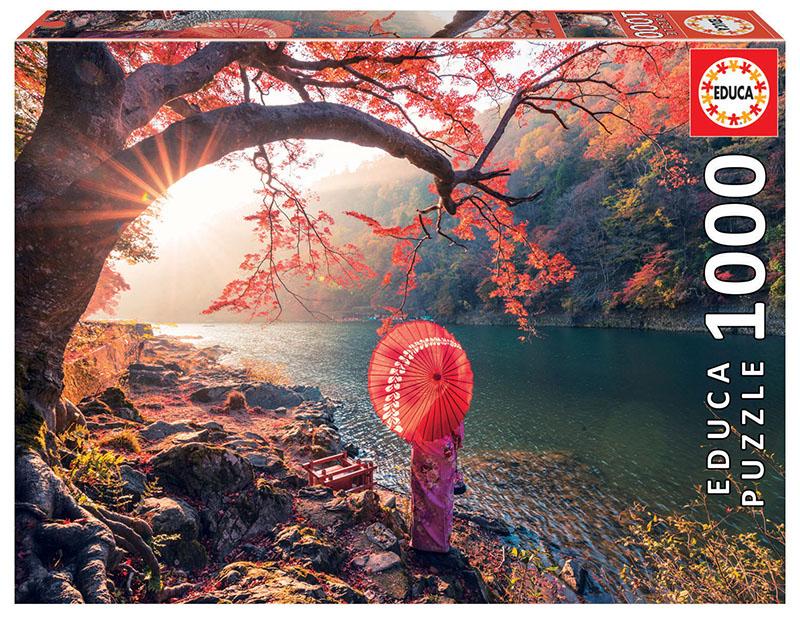 Puzzle Educa Amanecer en el Rio Katsura , Japón 1000 Piezas