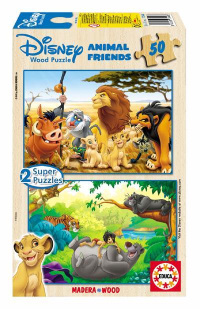 Puzzle Educa Amigos Animales 2 x 50 Piezas