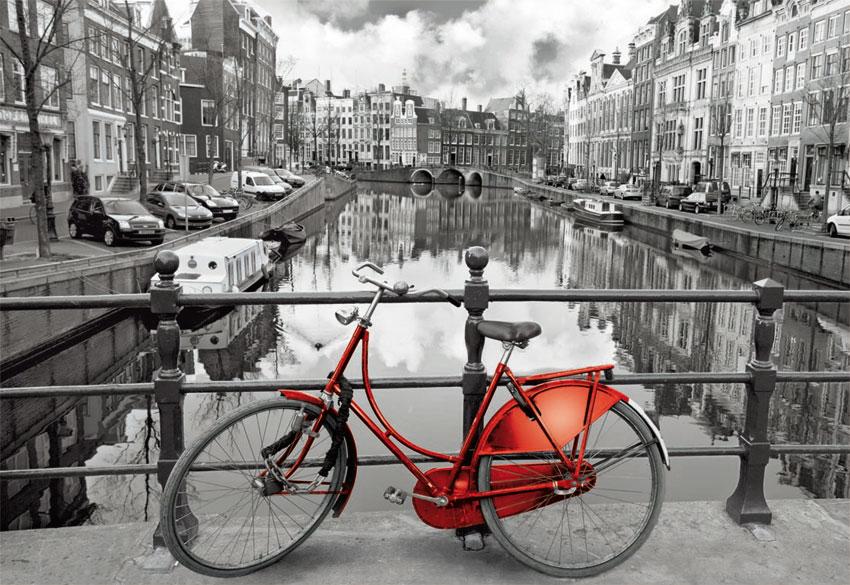 Puzzle Educa Amsterdam, La Bicicleta de 1000 Piezas