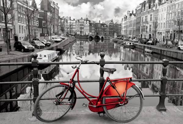 Puzzle Educa Amsterdam, La Bicicleta Roja de 3000 Piezas